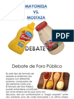 Debate Mayonesa vs Mostaza