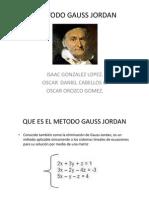 Metodo Gauss Jordan