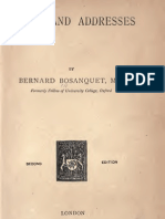 Bernard Bosanquet ESSAYS AND ADDRESSES London 1891