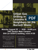 Urban Gas Drilling Poster