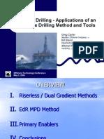 Riserless Drilling