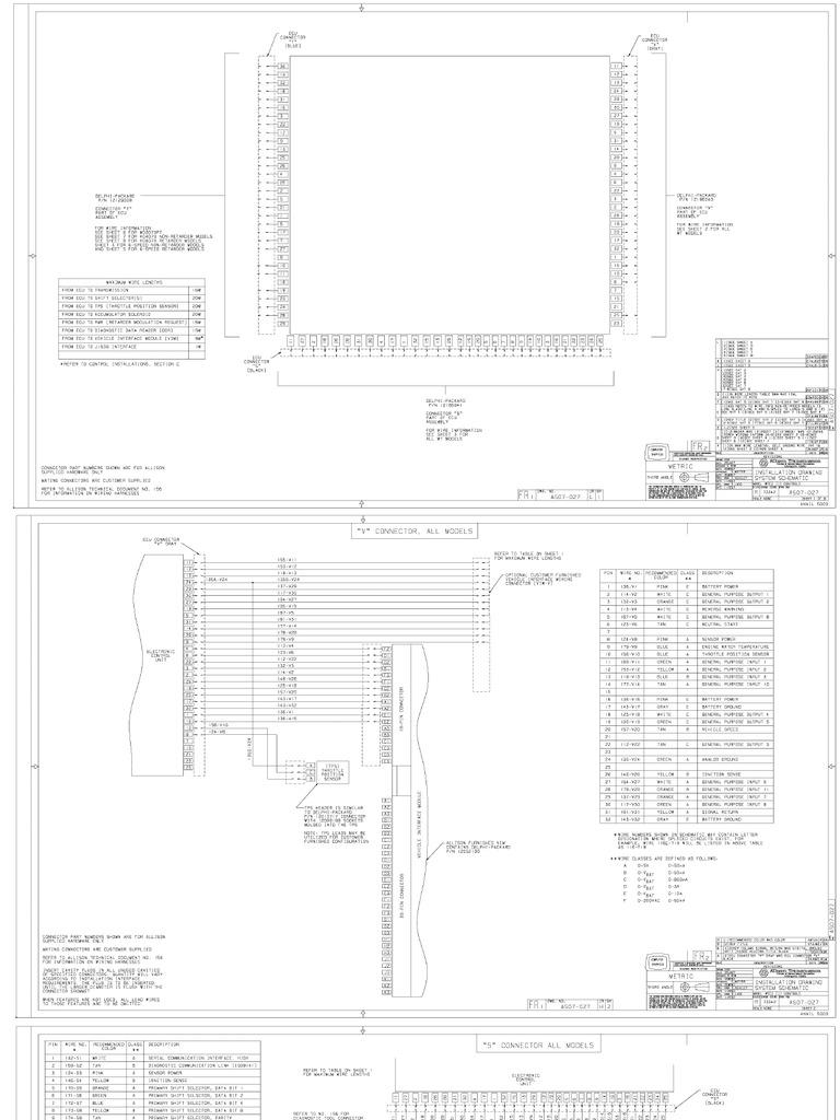 Fantastic 3000 4000 Allison Transmission Wiring Diagram Gallery Allison 4000 Wiring Diagram Allison Automatic Transmission Wiring Diagram Allison 3000 Rds Wiring Diagram