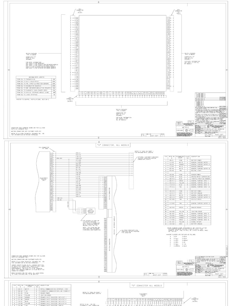 3k 4k allison wiring diagrams