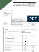 NBR 13301 - redes telefônicas internas prediais (1995)