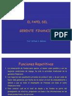 Papel Del Gerente Financiero