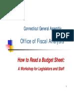 Budget Sheet Workshop Presentation