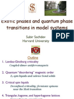 Subir Sachdev- Exotic phases and quantum phase transitions in model systems