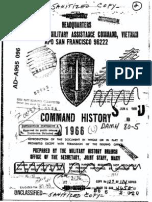 Command History 1966 | Viet Cong | Vietnam War