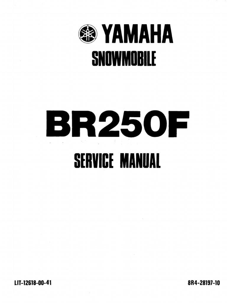 Yamaha BR250 Bravo Snowmobile Service Manual (2