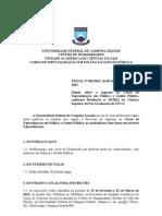 EDITAL_Selecao - UFCG - Política e Gestão Pública