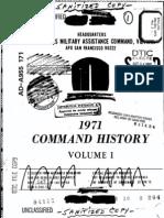 Command History 1971 Volume I