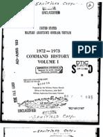 Command History 1972-1973 Volume I