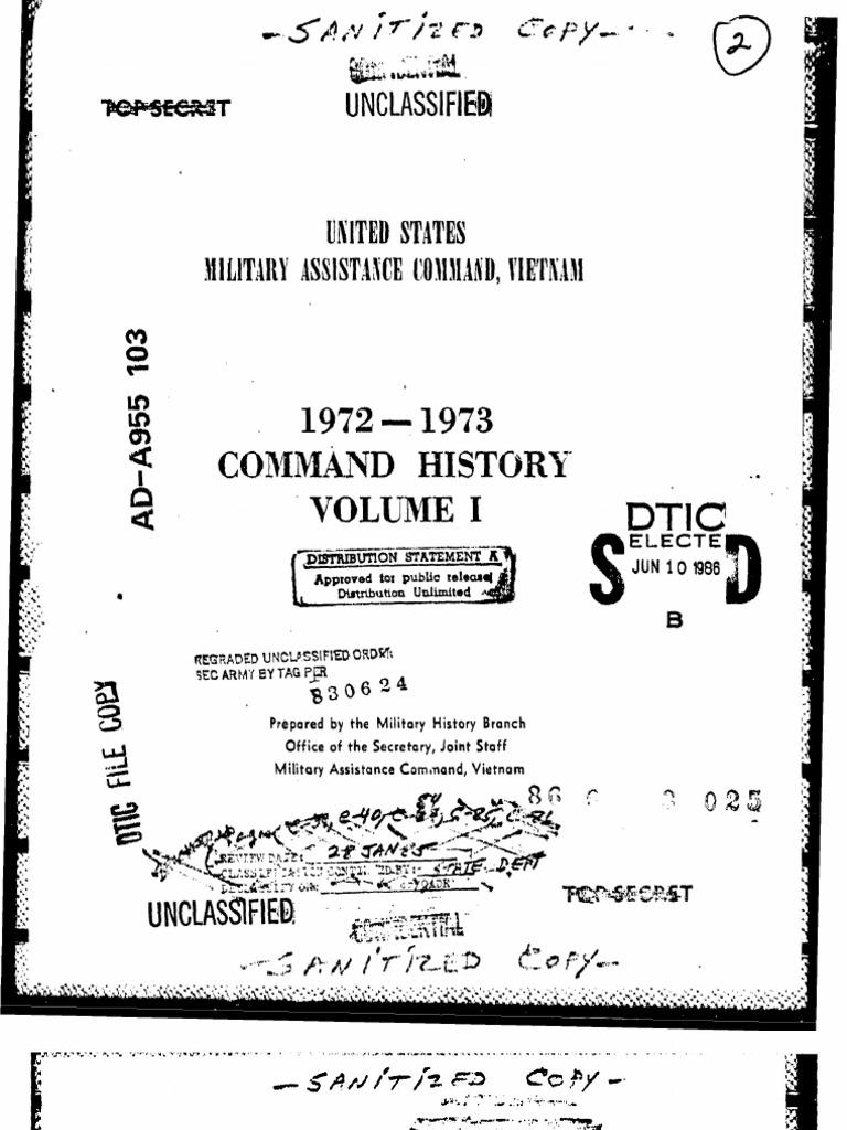 Command History 1972-1973 Volume I  efa95131ad4eb