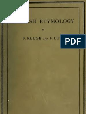 English Etymology | English Language | Linguistics
