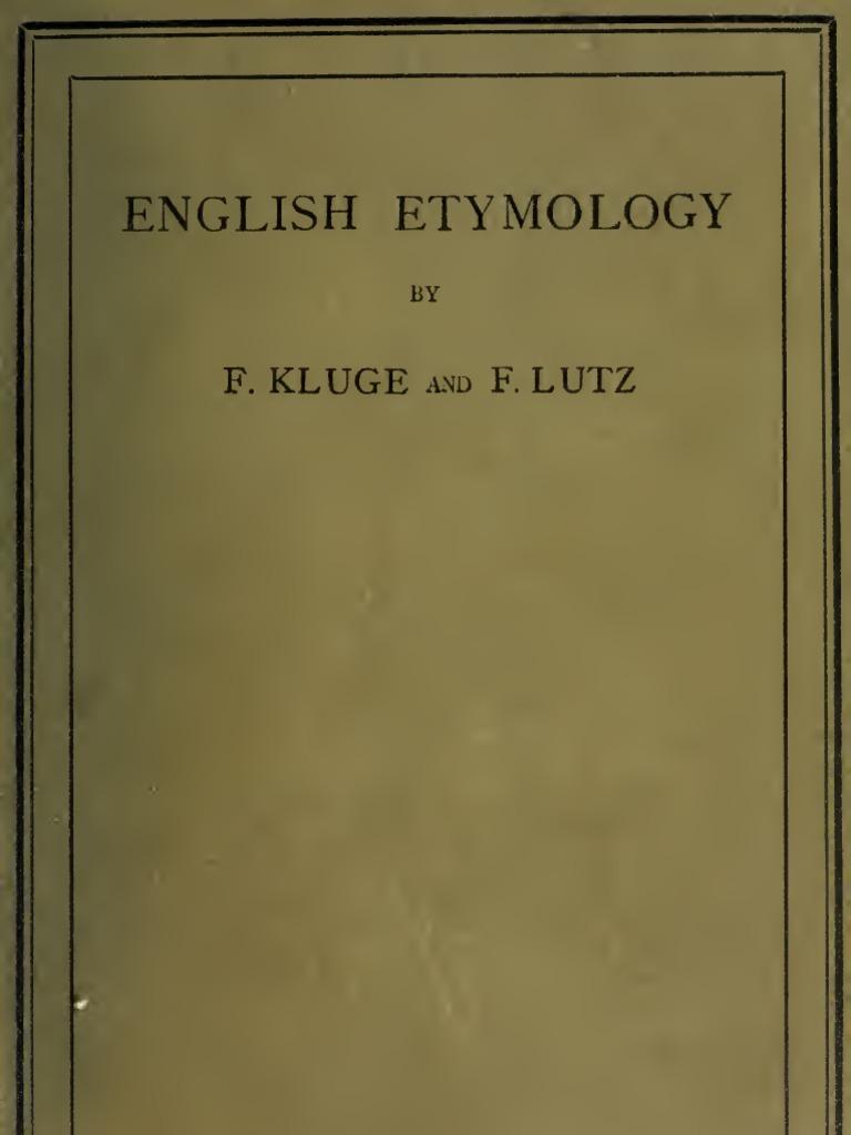 English Etymology English Language Linguistics
