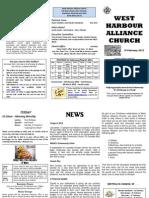 Church Newsletter - 19 February 2012