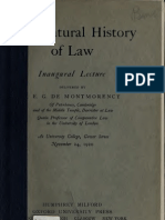 Natural History of Law