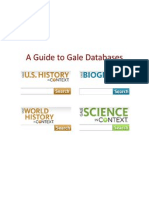 Guide to Gale Databases