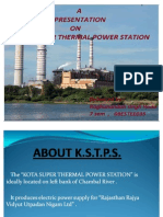 ppt on KSTPS by Raghu Hada