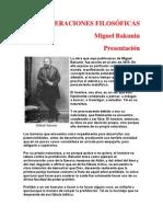 bakunin - Consideraciones filosoficas