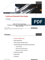 CDW Continuious Detonation Wave Engine