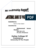 FINI619 Internship Report on NBP 2(1)