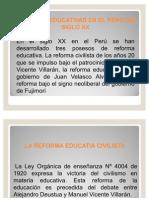 Reforma Educativa en El Peru Siglo Xx