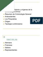 Historia de La Criminologia Clinica