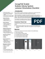 SL3000_Customer Orientation Checklist