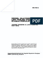 Model Multi Regional Life Tables and Stable Populations (1976)