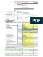 Business Income Expense Worksheet