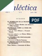 Dialéctica, nº 08, junio 1980