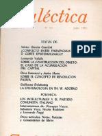 Dialéctica, nº 10, julio 1981