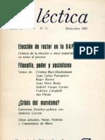 Dialéctica, nº 11, diciembre 1981