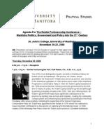 Manitoba Politics Conference - Final Agenda