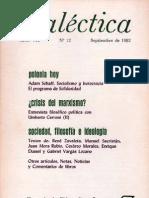 Dialéctica, nº 12, septiembre 1982