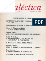 Dialéctica, nº 17, diciembre 1985
