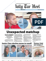 The Daily Tar Heel for February 15, 2012