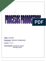 Proceso Productivo Calidad