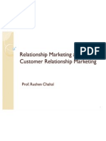 Relationship Marketing and Customer Relationship Marketing
