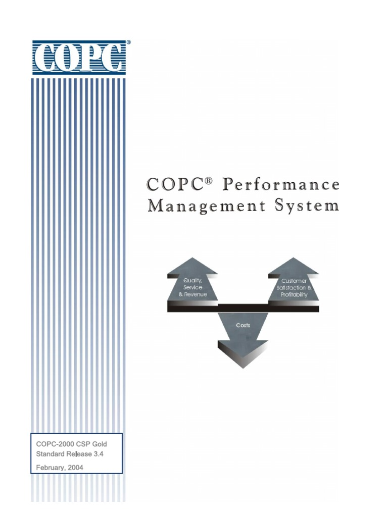 Copc 2000 Csp Gold Information Technology Management Information