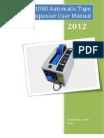 M1000 Automatic Electric Tape Dispenser Manual