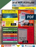 Garage Equipment Tools Mot Supplies Printing