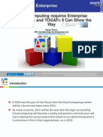 Cloud Computing Requires Enterprise Architecture and Togaf9 Can Show the Way
