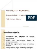 Principles of Marketing- Segmentation and Tar Getting