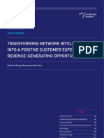 Analysys Mason - TRANSFORMING NETWORK INTELLIGENCE INTO A POSITIVE CUSTOMER EXPERIENCE AND REVENUE-GENERATING OPPORTUNITIES