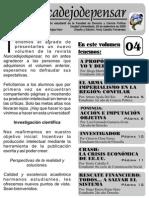 Revista NUNCADEJODEPENSAR Vol IV