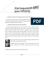 Aplikasi Prinsip Kesetimbangan Kimia Dalam Industri