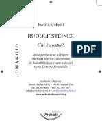 Rudolf Steiner Chi era costui?