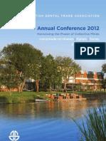 BDTA Annual Conference 2012 - A4 Brochure